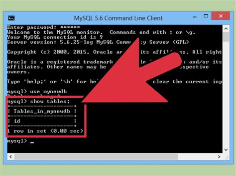 mysql console import how to send sql queries to mysql from the command line 9