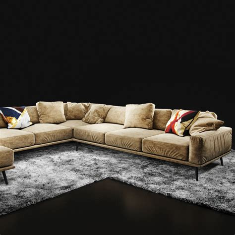 boconcept carlton sofa boconcept carlton 3d model max obj fbx cgtrader