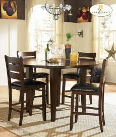 round counter height dining room set for small space