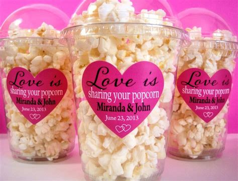 Engagement Party Giveaways - popcorn boxes wedding favor engagement party bridal shower 20 00 via etsy