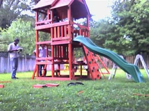 how to build a backyard discovery highlander wooden swing