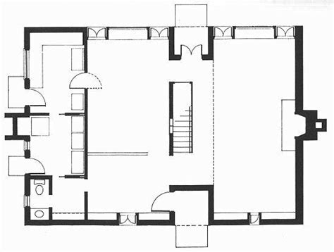 esherick house floor plan precedent