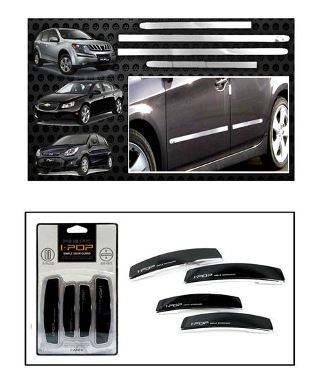 car door beading i pop chrome car side beading black i pop door guards