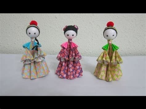 Make Paper Dolls - tutorial how to make 3d paper dolls asian folk dolls