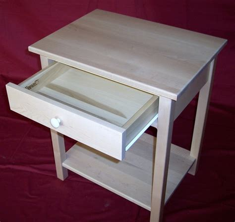 maple night stands bedroom custom unfinished maple nightstand with drawer