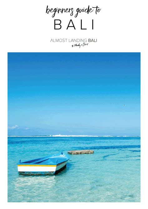 Guide To Bali beginners guide to bali ebook