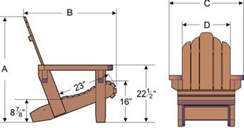 Adirondack Chair Dimensions Alf Img Showing Gt Adirondack Chair Dimensions