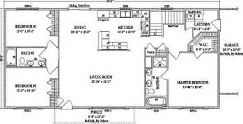 Open Concept Ranch Floor Plans by Modular Home Open Concept Modular Home Plans