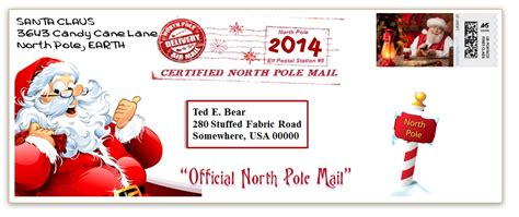 printable envelope from north pole envelope with postmark from santa search results