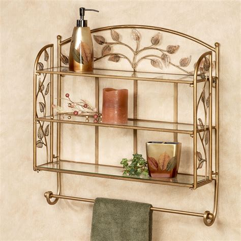 wall shelf with towel bar