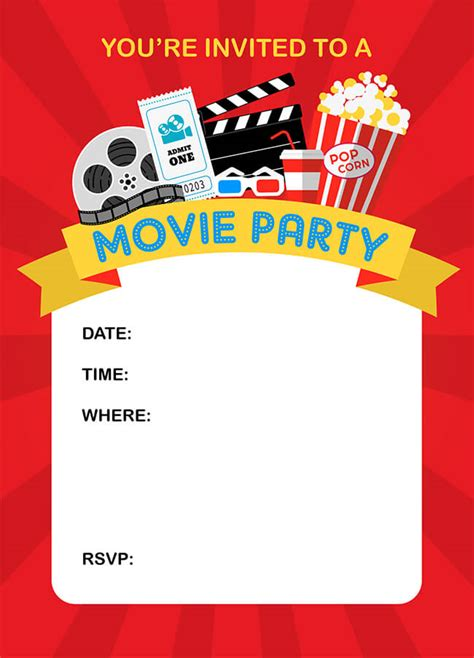 printable birthday invitations movie theme free how to throw a fun backyard movie party