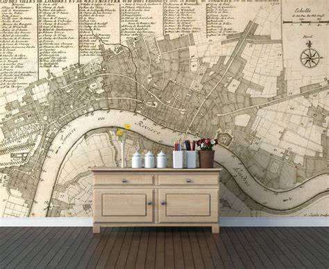 wallpaper design london go vintage with a historical map mural wallpapered blog