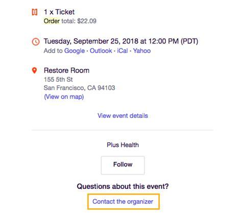 Adressaufkleber Bestellen by How To Contact The Event Organizer Eventbrite Help Center