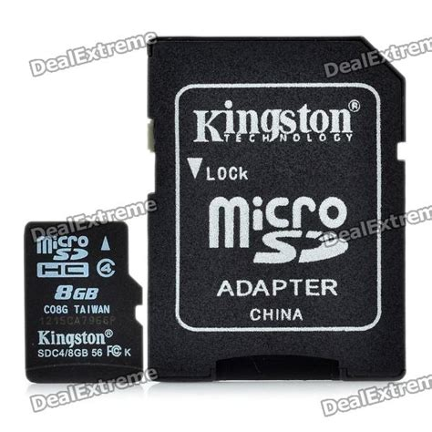 Berkualitas Micro Sd V 8gb Micro Sd Card מוצר kingston micro sd tf memory card w sd adapter 8gb class 4