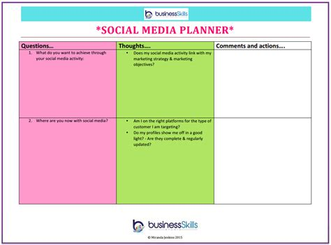 social media planner free business growth and planning resources business