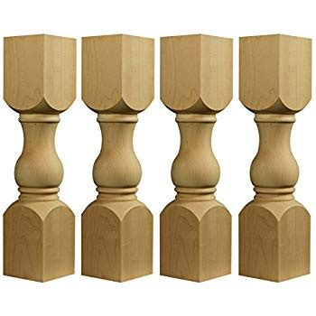 balustrade coffee table legs unfinished balustrade coffee table legs 10t x 7w set of