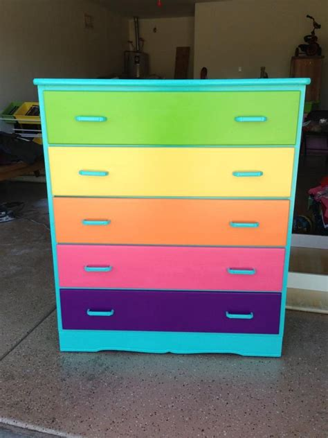 colorful dresser bedroom ideas
