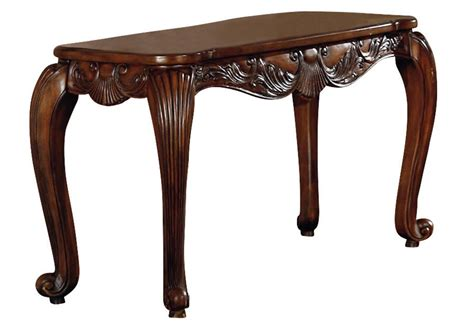 traditional carved wood console sofa table w cabriole
