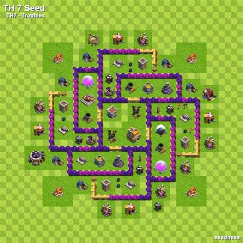 coc town hall 7 gambar coc base town hall 7 opzzpinky