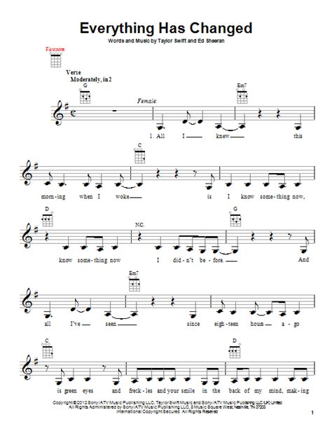 taylor swift everything has changed piano chords everything has changed sheet music by taylor swift
