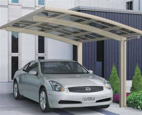 metal car awnings car canopy carport car shed polycarbonate board and aluminum frame automobile rain