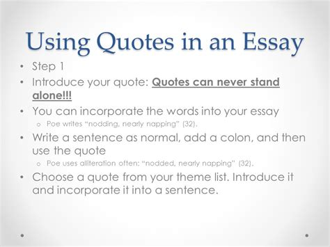 Properly Using Quotes In An Essay by Literary Analysis The Hunger Ppt