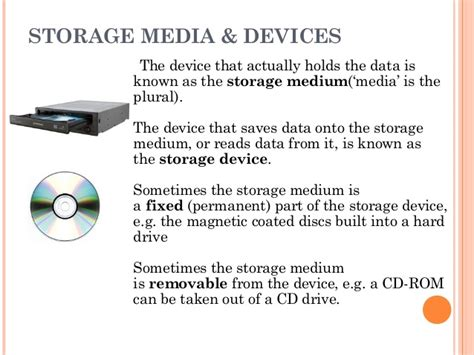 Storage Medium chapter 3 storage media and devices