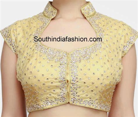collar neck design pattern collar neck kundan work blouse blouse designs saree