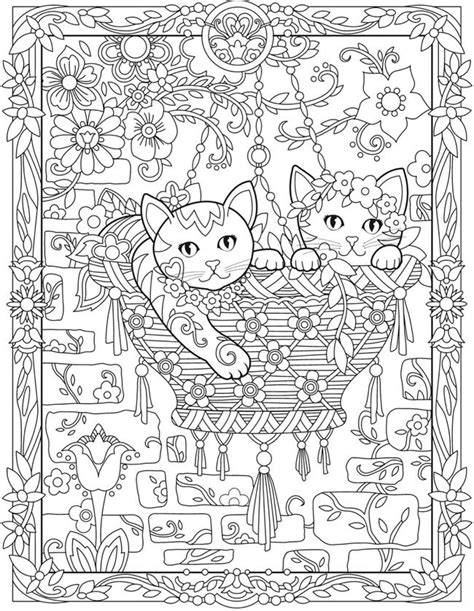 creative cats color by number coloring book coloring books 1321 best creative coloring pages by dover images on