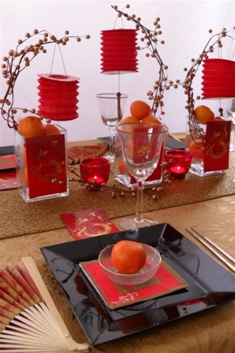 cny home decoration pagoda road chinese new year table settings and party