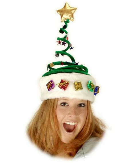 springy christmas tree halloween hat