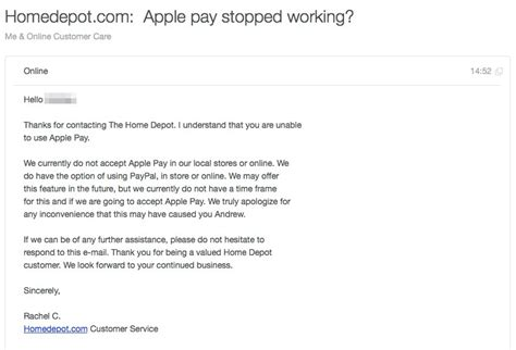 paypal partner home depot quietly drops support for apple