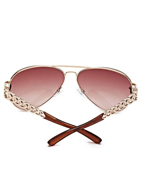 guess chain guess s chain link aviator sunglasses ebay