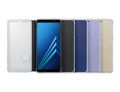 Flip Cover Samsung A8 Samsung A8 2018 Neon Flip Cover Black Price In