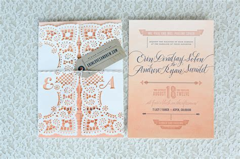 what goes in a wedding invitation ombre lace wedding invitations wedding stationery