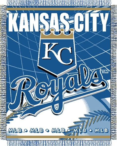 kansas city royals bedding kansas city royals mlb 48 quot x 60 quot triple woven jacquard throw