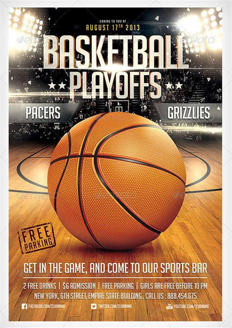basketball flyer template sports flyer template 20 free psd ai vector eps