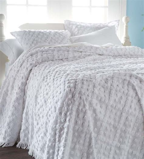 chenille comforters king king tufted chenille hobnail bedspread 118 quot x 118 quot home