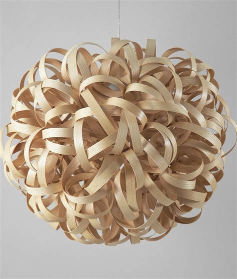 wooden light large curly wooden light pendant 650mm diameter