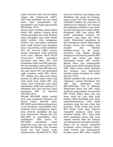 Obat Arv Di Indonesia faktor faktor yang berhubungan dengan kesiapan pasien hiv
