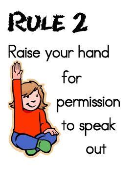 imagenes de ingles raise your hand whole brain teaching rule 2 raise your hand for