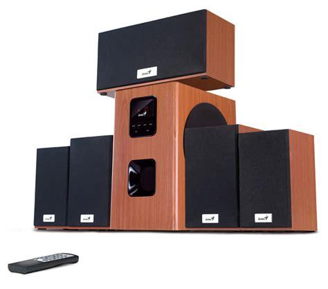 genius  piece sw hf  wood surround sound system
