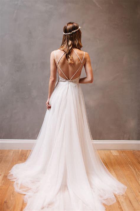 Backless Strappy Dress backless wedding dress beautiful backless wedding