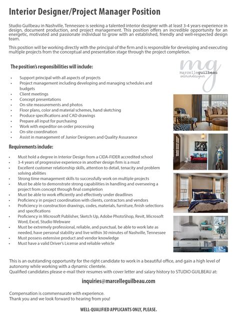 role of interior design project manager