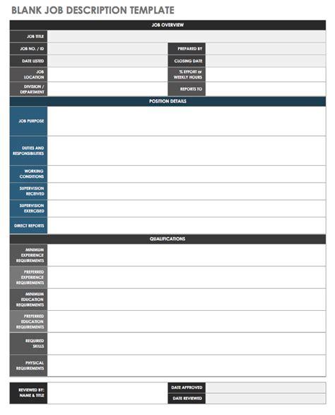 Free Job Description Templates Smartsheet Employee Roles And Responsibilities Template Excel