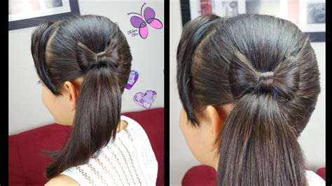 how to make easy hairstyles on youtube side ponytail and hair bow quick and easy hairstyles