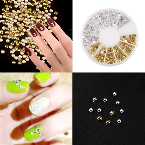 Nail 3d Professional Quality 7 top quality mini 3d nail tip stud decor decoration stickers diy accessories in