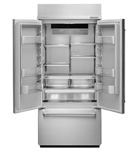Built In Door Refrigerator by 36 Kitchenaid 20 8 Cu Ft Built In Stainless Steel