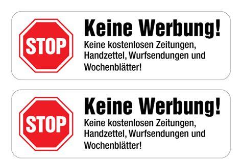 Bitte Keine Werbung Aufkleber Trafik by Keine Werbung Aufkleber Kostenlos Softwarepromotion