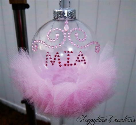 personalize princess tutu ornament diy crafts pinterest